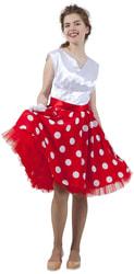 Фото Платье в стиле 50-х бело-красное взрослое