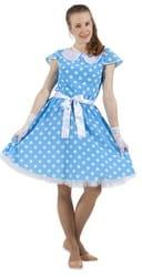 Фото Платье в стиле 50-х голубое взрослое