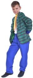 Фото Костюм стиляга с синими штанами детский