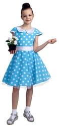 Фото Платье стиляги голубое детское