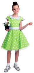 Фото Платье стиляги салатовое детское