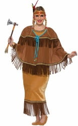 Фото Костюм индейская принцесса взрослый (большой размер)