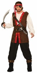 Фото Костюм опасный пират взрослый