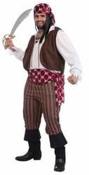 Фото Костюм опасный пират взрослый (большой размер)