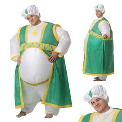 Фото Костюм надувной Султан зеленый взрослый