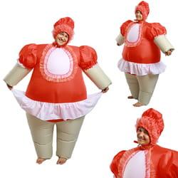 Фото Костюм надувной Девочка в красном взрослый
