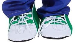 Ботинки Клоуна зеленые