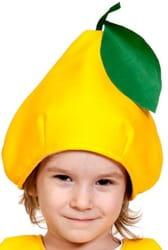 Фото Шапка Груша жёлтая детская