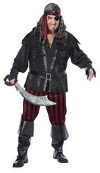 Фото Костюм Беспощадный пират взрослый (большой размер)