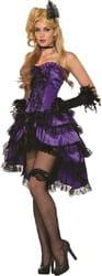 Фото Костюм Девушка из салуна в платье (фиолетовый) взрослый