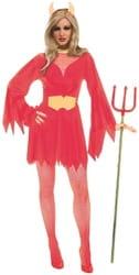 Фото Костюм Обаятельная дьяволица в красном взрослый