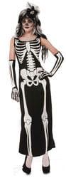 Фото Костюм Девушка скелет в длинном платье взрослый