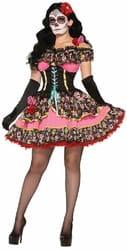 Фото Костюм Испанская кукла Вуду в коротком платье взрослый