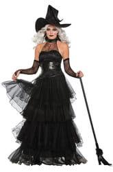 Фото Костюм злая Волшебница в платье (с отделкой) взрослый