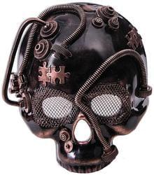 Фото Бронзовая маска скелета в стиле Стимпанк