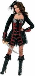 Фото Костюм Храбрая пиратка в платье взрослый