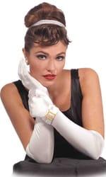 Фото Классические белые перчатки