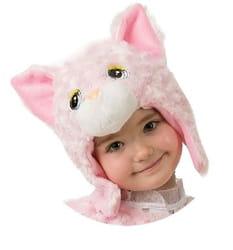 Фото Шапочка Кошечка (розовая) детская