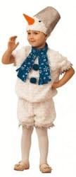 Фото Костюм Снеговичок в шапочке-маске детский