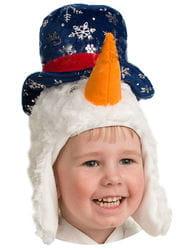 Фото Шапочка весёлый Снеговичок детская