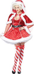 Фото Костюм Сексуальная миссис Санта Клауса в платье взрослый