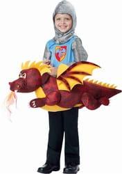 Фото Костюм Рыцарь на огнедышащем драконе детский