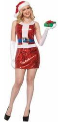 Фото Костюм сексуальная Мисс Санта в платье взрослый