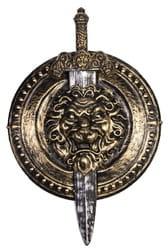 Щит римского воина с мечом