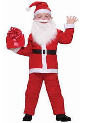 Фото Костюм веселый Санта Клаус детский