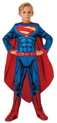 Фото Костюм Супермен с мускулатурой deluxe детский