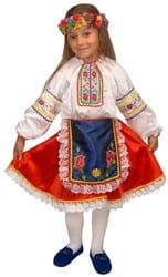 Фото Карнавальный костюм детский Украинская девочка