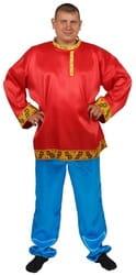 Фото Костюм красная Косоворотка (большой размер) взрослый