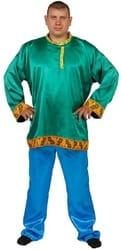 Фото Костюм зеленая Косоворотка (большой размер) взрослый