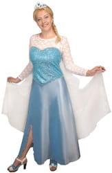 Фото Костюм Эльза в платье (Холодное сердце) взрослый