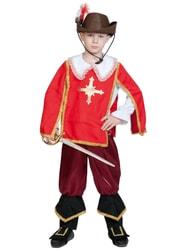 Фото Костюм Мушкетер Портос красный детский
