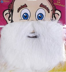 Борода на блистере (белая)