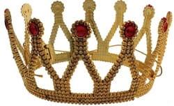 Фото Корона Принцесса с камнями золотая
