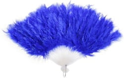 Фото Веер с пухом (синий)