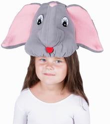 Фото Карнавальная шапка Слоненок детская