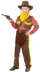 Фото Костюм Ковбой с пистолетом детский