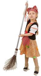 Фото Костюм Баба-Яга в платье детский